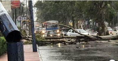 Asunción con estragos tras temporal