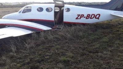 Aterrizaje forzoso de un avión que trasladaba a funcionarios del MOPC