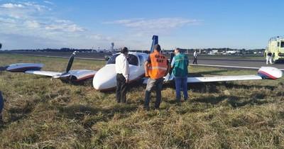 Avioneta realiza aterrizaje forzoso en el Silvio Pettirossi
