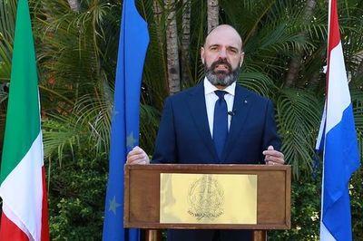 """""""Los valores de Italia nos dan la seguridad de que esta segunda reconstrucción de nuestro país será exitosa"""""""