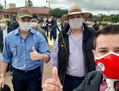 Marito se jacta del cierre de frontera Pedro Juan