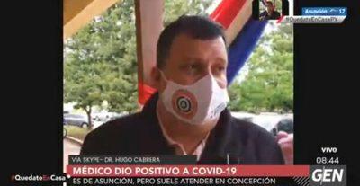 Médico que atiende en Asunción y Concepción da positivo a Covid-19