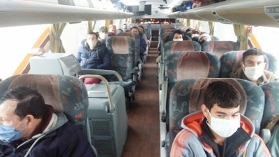 Desde Neuquén, Argentina, 60 compatriotas iniciarion viaje de repatriación