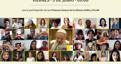 Primera dama participará del ciberencuentro mundial con el papa Francisco