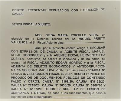 Miguel Prieto vuelve a CHICANEAR y una vez más RECHAZA todos los FISCALES