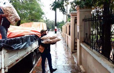 SEN distribuyó 95.000 kilos de alimentos en Central