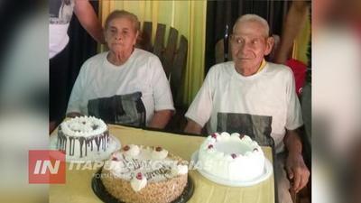FIESTA EN GRAL  DELGADO, MARTÍN Y ROMUALDA CUMPLEN 67 AÑOS DE CASADOS