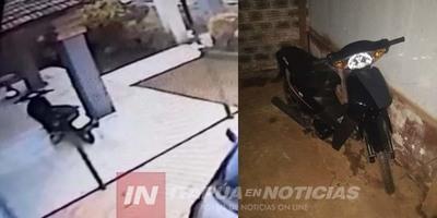 POLICÍARECUPERA MOTOCICLETA HURTADA