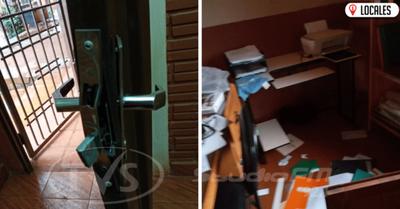Malvivientes hurtan objetos de valor del interior de una escuela
