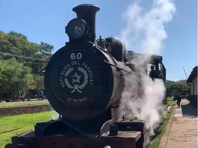 Recuperan vieja locomotora del Ferrocarril Carlos Antonio López