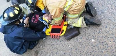 Embarazada sufre accidente de moto en Luque • Luque Noticias