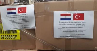 Turquía dona insumos médicos a Paraguay