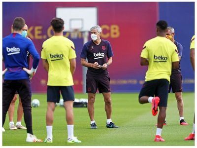 Setién confirma a Messi y Suárez