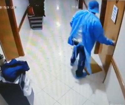 Narco escapó de un hospital vestido de doctor