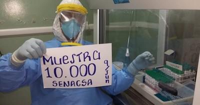 Laboratorio de Senacsa alcanza 10.000 muestras procesadas de COVID-19