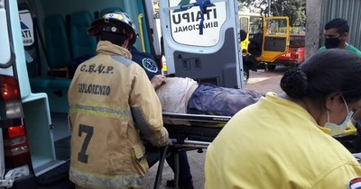 Un obrero cayó de una altura de tres metros