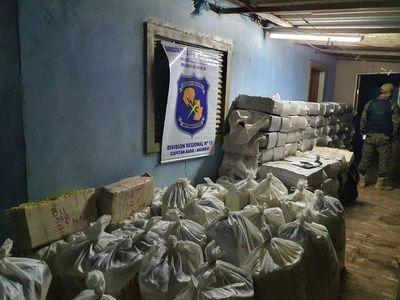 Incautan más de 3.500 kilos de marihuana en Capitán Bado