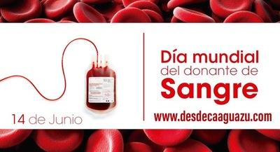 Día Mundial del Donante de Sangre: Convocan a la donación voluntaria