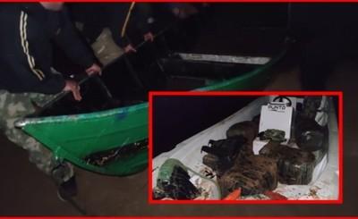 Ropas, cigarrillos y focos incautados por la Prefectura Naval del Este