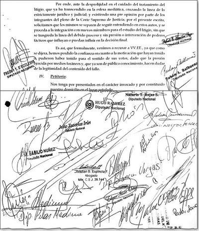 Colorados y llanistas intentaron interferir en decisión de la Corte