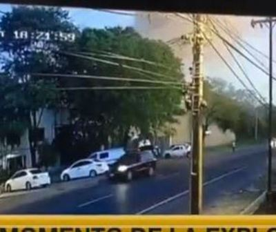 Vídeo: Momento exacto de la explosión en taller de Villa Elisa