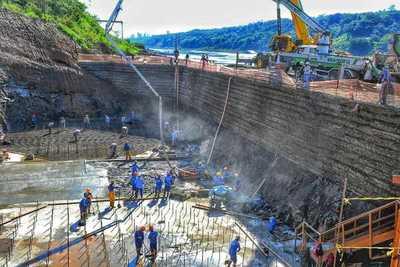 Puente de la Integración: alistan las bases para la torre principal hacia el lado paraguayo