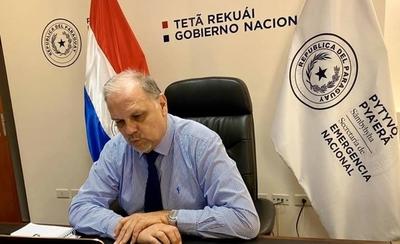 """HOY / Joaquín Roa, ministro de Emergencia Nacional """"Estoy a la resulta de una última comunicación, para ver si hago o no cuarentena"""""""