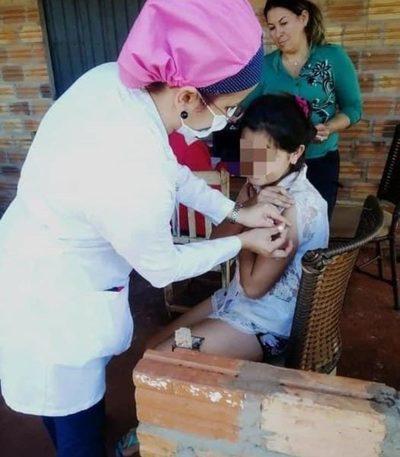 Realizan jornada de vacunación en Santa Rita