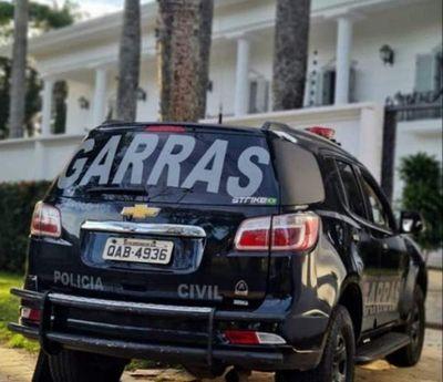 Grupo operativo de la policía Brasileña allanó varias residencias en Ponta Porã