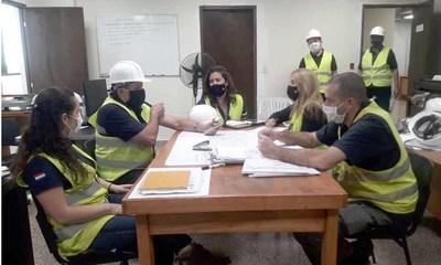 Verifican obras en el nuevo Palacio de Justicia del Km ,5 de C. del Este – Diario TNPRESS