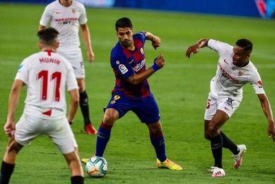 El Barcelona empató ante Sevilla y pone en peligro su liderato