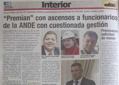 Lapidario informe de la ANDE, involucran al diputado Juancho Acosta y su hermana en PJC