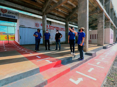 APF inspecciona los estadios Gunther Vogel y Luis Salinas