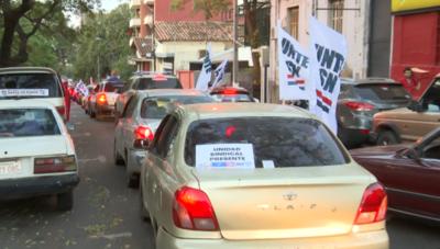 Manifestación en rechazo de la propuesta de reforma del Estado del Ejecutivo