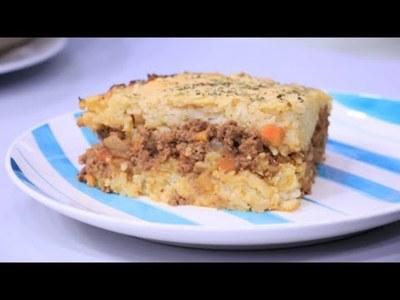 Pastel de arroz con relleno de carne y Vasitos de cheesecake de piña colada