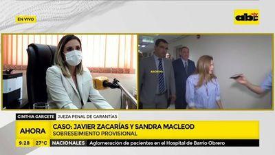 JEM ojerúre marandu blanqueo Javier Zacarías ha Sandra McLeod