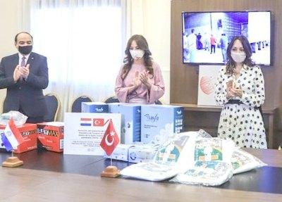 Turquía hizo donación mbarete de insumos