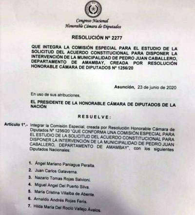 Conforman Comisión Especial para intervenir Municipalidad de Pedro Juan Caballero