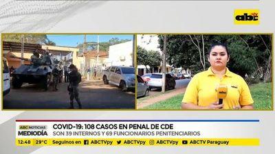 108 casos de coronavirus en el penal de CDE
