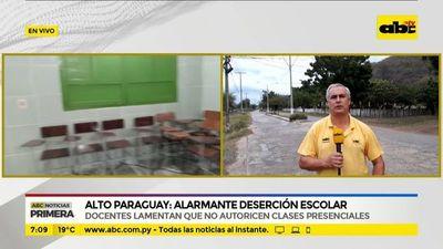 Alarmante deserción escolar en Alto Paraguay