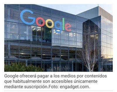 Google pagará a algunos medios de comunicación por compartir sus contenidos