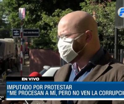 """Juan Grassi: """"Me pueden imputar, pero vamos a continuar con las protestas"""""""