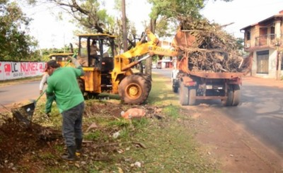 Municipalidad junta 20 camionadas de ramas y rastrojos del Área 3