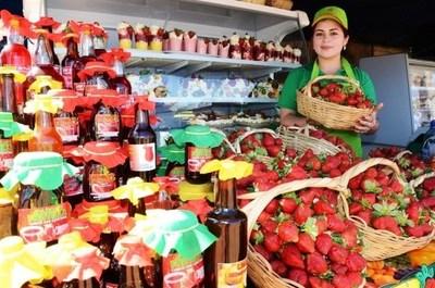 Frutilleros ofrecen exquisiteces • Luque Noticias