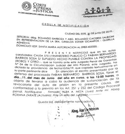 Policía acusado de robo de US$ 150 mil será LIBERADO