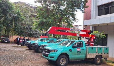 ANDE con cuatro nuevos móviles para Alto Paraná