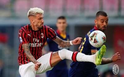 Milan triunfó y aleja a Roma de la Champions League