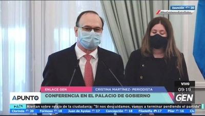 HOY / Conferencia de prensa en el Palacio de Gobierno, sobre invasiones en áreas protegidas y el embalse de Itaipú Binacional