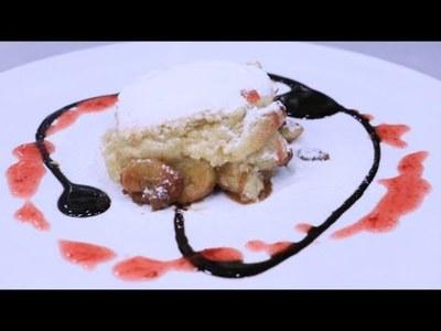 Guiso de pollo con fideito y Cobbler de fruta