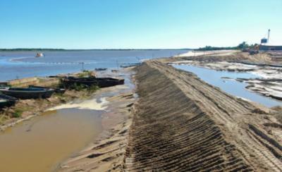 HOY / Defensa costera de Pilar conoce de un sostenido avance en sus obras